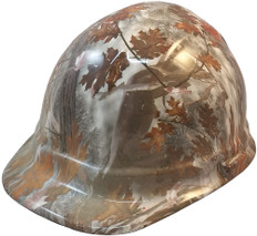 Winter Camo Hydrographic CAP STYLE Hardhats - Ratchet Liner ~ Oblique View