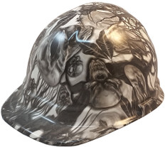 Skull Family Tree Hydrographic CAP STYLE Hardhats - Ratchet Suspension ~ Oblique View