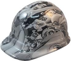 Bad Bones Hydrographic CAP STYLE Hardhats - Ratchet Suspension ~ Oblique View
