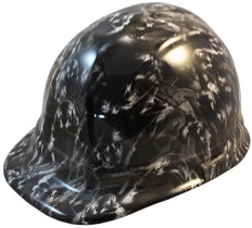 Guns and Skulls Hydro Dipped Hydrographic CAP STYLE Hardhats - Ratchet Suspension ~ Oblique View