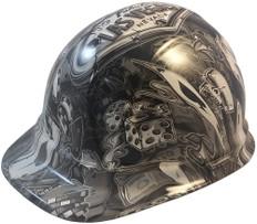 Vegas Baby Hydro Dipped Hard Hats, Cap Style Design - Ratchet Suspension ~ Oblique View