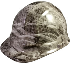 United We Stand Hydro Dipped Hard Hats, Cap Style Design - Ratchet Liner ~ Oblique View