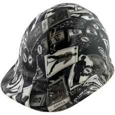 Las Vegas Route 66 Design Hydro Dipped Hard Hats, Cap Style Design - Ratchet Liner ~ Oblique View
