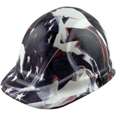 Faded Glory Design Hydro Dipped Hard Hats, Cap Style Design - Ratchet Liner ~ Oblique View