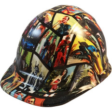 Grand Theft Auto Hydro Dipped Hard Hats Cap Style Design with Ratchet Liner ~ Oblique View