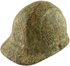 We the People Yellow Design Hydro Dipped Hard Hats Cap Style with Ratchet Liner  ~ Oblique View
