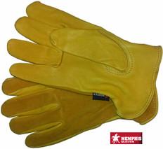 Westchester #pr-3505 Deerskin Split Leather Palm Work Safety Gloves with Split Leather Back