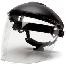 Pyramex #S1110 Polycarbonate Clear Tapered Faceshield