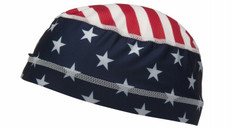Pyramex #CSK1FLG Cooling Skull Cap Liner - American Flag ~ Typical Appearance