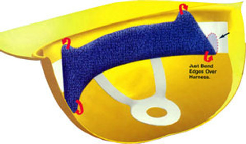 Occunomix #880 Topper Adjustable Sweat Band Blue Color