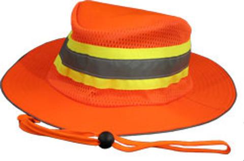 ERB #61588 Safety Helmet Boonie Reflective Hats - Orange Color