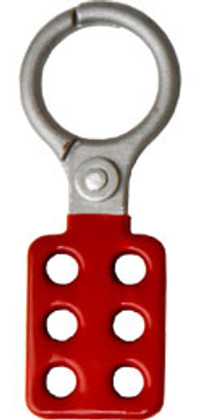 Rack Em #RE5506 Lockout Safety Hasps 1.5 inch Die-Cast with red coating