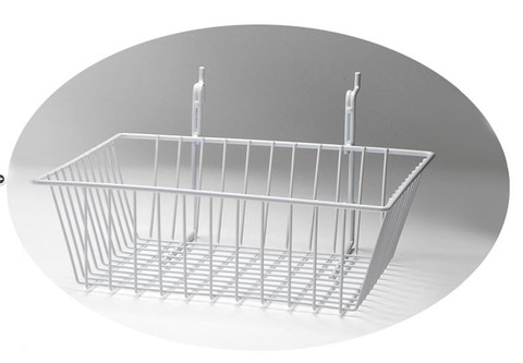 Rack Em # RE5082-W Wire Basket Safety Supplies Holders 12ix12x4, White