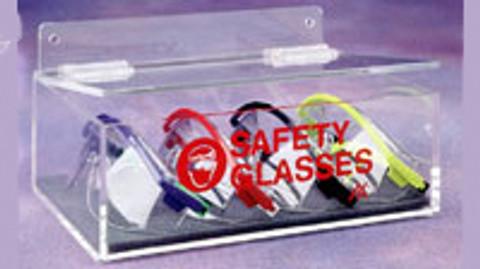 "AKLTD #AK-230-1 Safety Eyewear Holder with Lid - 9""W X 3-1/2""H X 6-3/4""D inches"