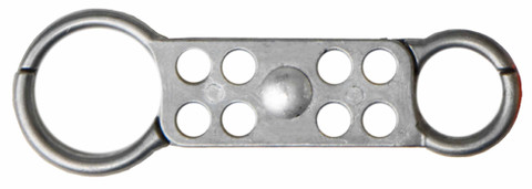 Double Sided Hasp for Lockout - Tagout. 1 inch on one side / 1.5 inch on the other side, Die-Cast