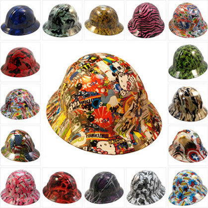 Hydrographic  FULL BRIM Safety Hardhats