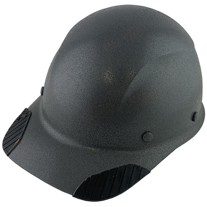 DAX Carbon Fiber Hard Hat - Cap Style Textured Gunmetal Gray ~ Oblique View