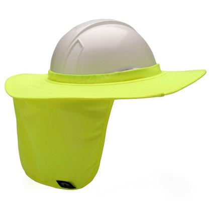 Pyramex #ML-HPSHADE30 Hard Hat Neck Shades - Hi-Viz Lime
