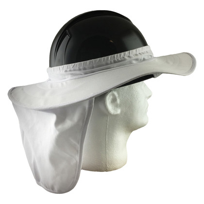 Pyramex #ML-HPSHADE10 Hard Hat Neck Shades - White