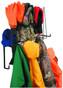 PPE Storage Rack, Holds 4 Hard Hats, 4pr. Gloves, 4 sets of rain wear, Shelf for hats or earmuffs