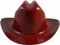 Jackson Stetson Style Safety Helmet with Ratchet Liners - Maroon - Front View