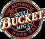 Skull Bucket #ML-SBF-TGM Aluminum Full Brim Safety Hardhats with Ratchet Liners - Textured Gun Metal