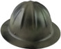 Skull Bucket #SBF-TCM Aluminum Full Brim Safety Hardhats with Ratchet Liners - Textured Camo - Front View