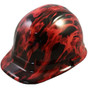 Burning Flames Small Skull - CAP STYLE Hydrographic Hardhats