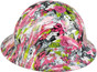 HDHH-1639-FB Maui Vacation FULL BRIM Hydrographic Hardhats ~ Right Side View