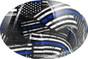 HDHH-1641-FB Blue Lives Matter FULL BRIM Hardhats - Graphic Detail