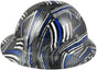 HDHH-1641-FB Blue Lives Matter FULL BRIM Hardhats - Ratchet Suspension ~ Right Side View