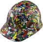 Sticker Bomb 5 Hydrographic CAP STYLE Hardhats - Oblique View