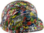 Sticker Bomb 5 Hydrographic CAP STYLE Hardhats - Right Side View