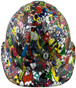 Sticker Bomb 5 Hydrographic CAP STYLE Hardhats - Front View