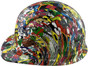 Sticker Bomb 5 Hydrographic CAP STYLE Hardhats - Left Side View