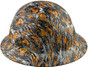 Fighting Tiger Design Full Brim Hydro Dipped Hard Hats - Left Side View