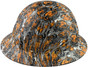 Fighting Tiger Design Full Brim Hydro Dipped Hard Hats - Right Side View