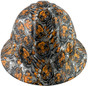 Fighting Tiger Design Full Brim Hydro Dipped Hard Hats - Front View