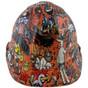 Orange Graffiti Hydrographic CAP STYLE Hardhats  ~ Front View