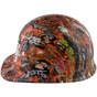Orange Graffiti Hydrographic CAP STYLE Hardhats  ~ Left Side View