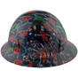 Avengers Design Full Brim Hydro Dipped Hard Hats ~ Side View