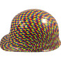 Autism Puzzle Hydro Dipped Hard Hats Cap Style Design with Ratchet Ratchet Liner ~ Left Side View
