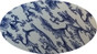 Blue Floral Hydro Dipped Hard Hats Full Brim Style ~ Graphic Detail