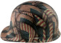 Large Second Amendment Flag Design Cap Style Hydro Dipped Hard Hats ~ Left View