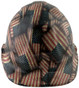 Large Second Amendment Flag Design Cap Style Hydro Dipped Hard Hats ~ Front View