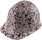 Halloween Massacre Design Cap Style Hydro Dipped Hard Hats ~ Left Side View Massacre Design Cap Style Hydro Dipped Hard Hats ~ Right View