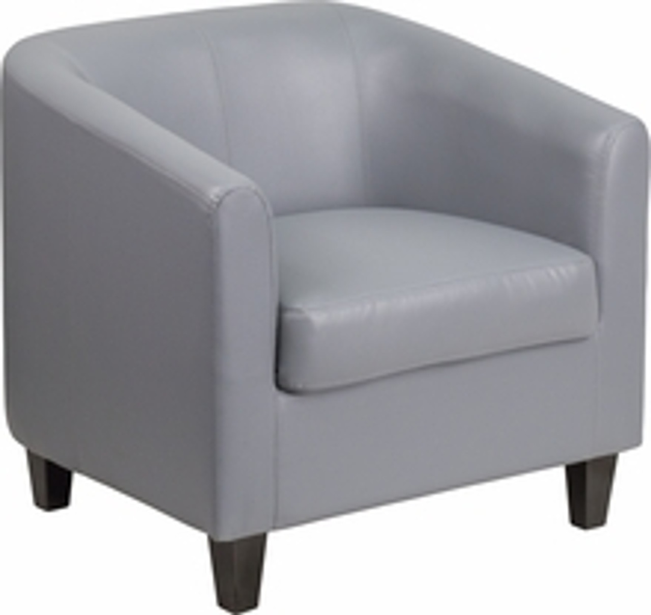 Flash Furniture BT-5-GY-GG Gray Leather Guest Reception Chair