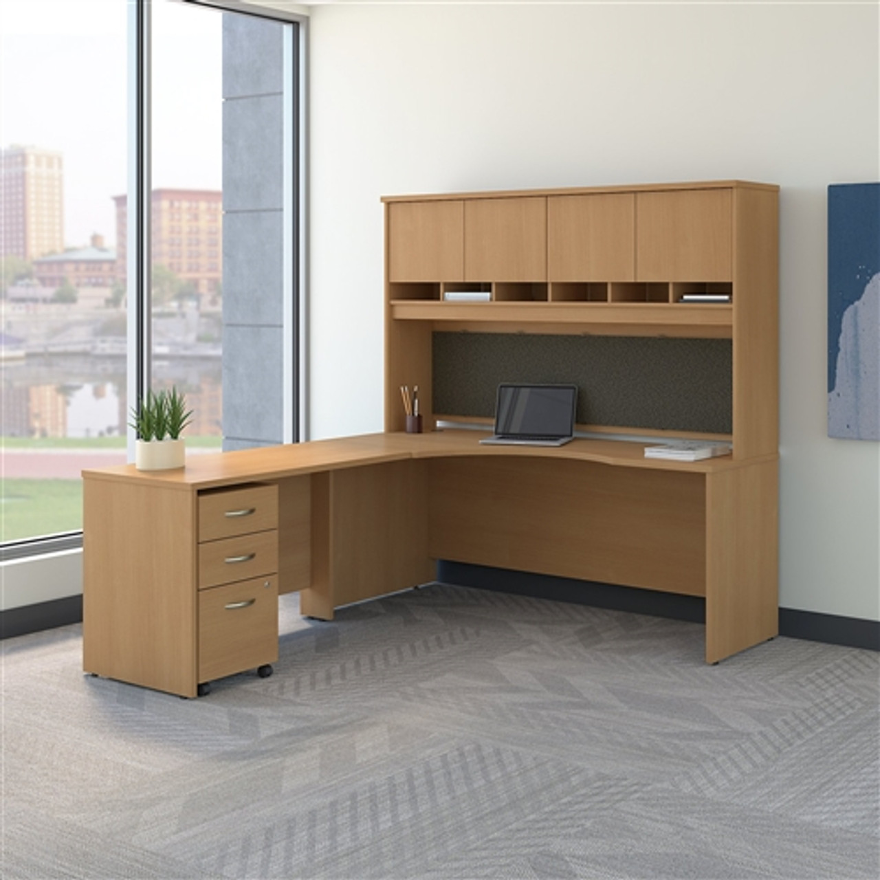 Bush Series C Left Handed Corner Desk With Hutch