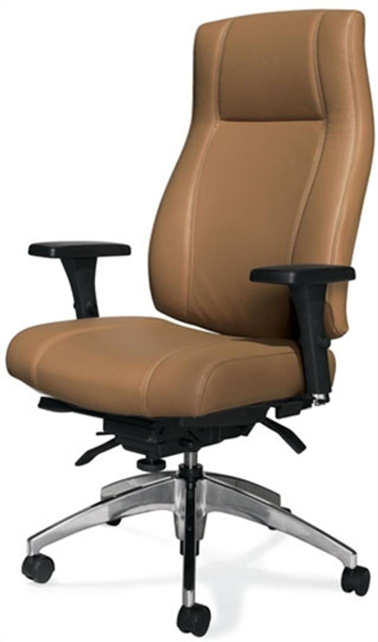 Astounding Global Triumph High Back Leather Executive Chair 3650 3 Machost Co Dining Chair Design Ideas Machostcouk