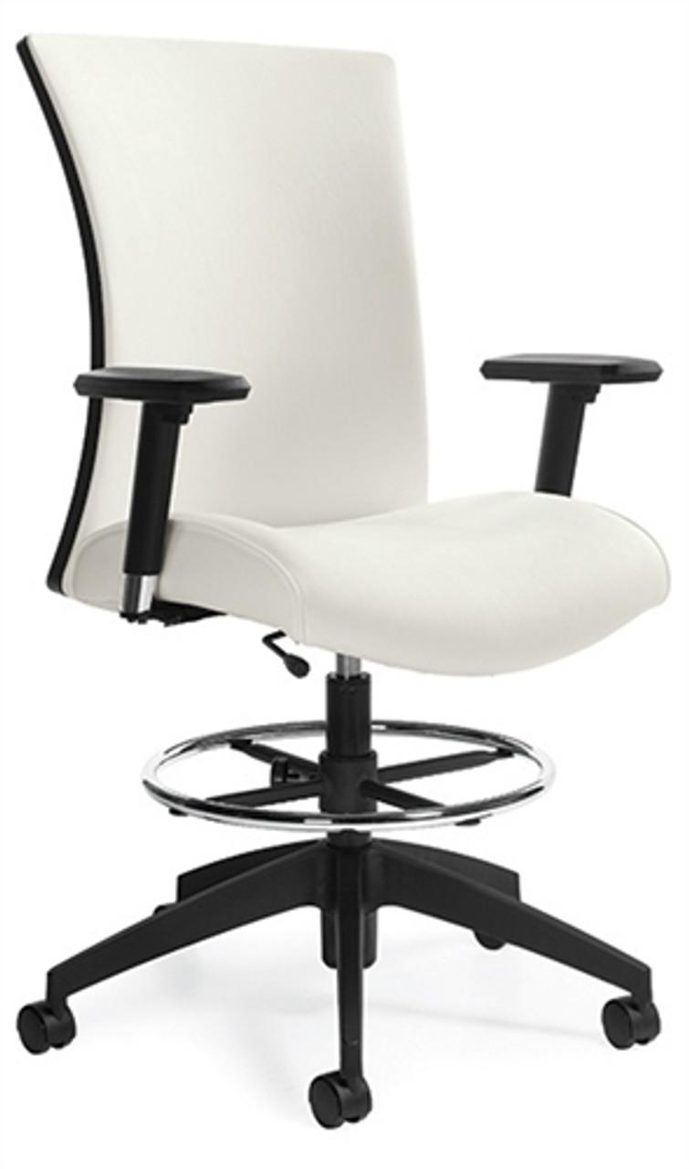 Wondrous Global Vion Series Adjustable Drafting Chair With Arms 6338 6 Creativecarmelina Interior Chair Design Creativecarmelinacom